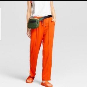 Womens Orange Casual Track Pants